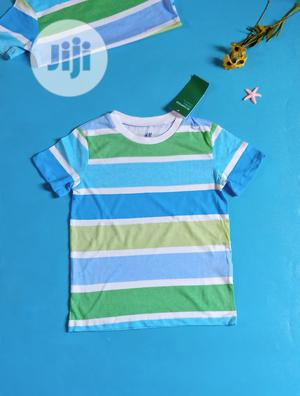 H M Stripe T-Shirt | Children's Clothing for sale in Lagos State, Ipaja