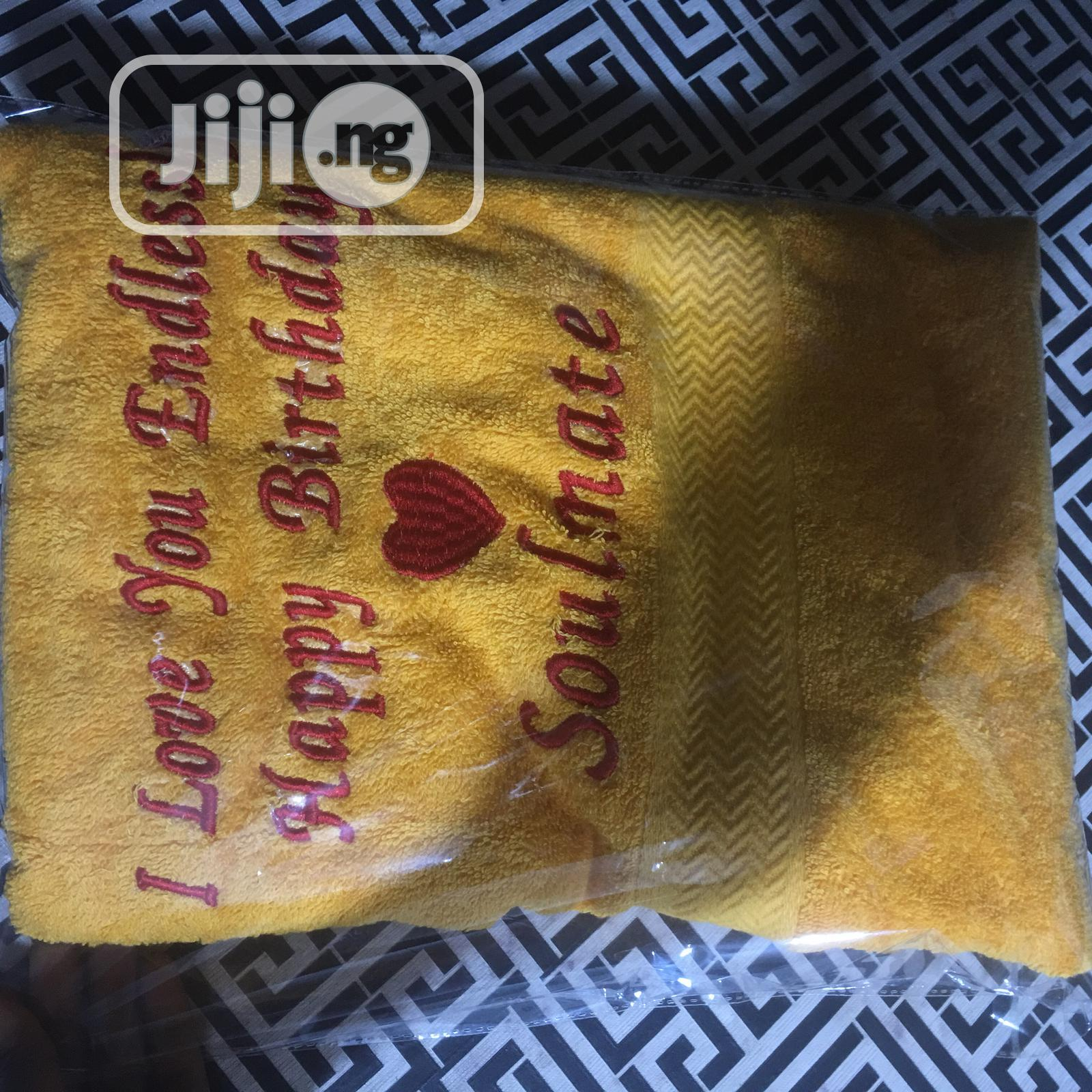 Archive: Customized Towels