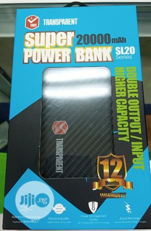 Transparent Super Power Bank 20,000 Mah | Accessories for Mobile Phones & Tablets for sale in Lagos State, Ikeja