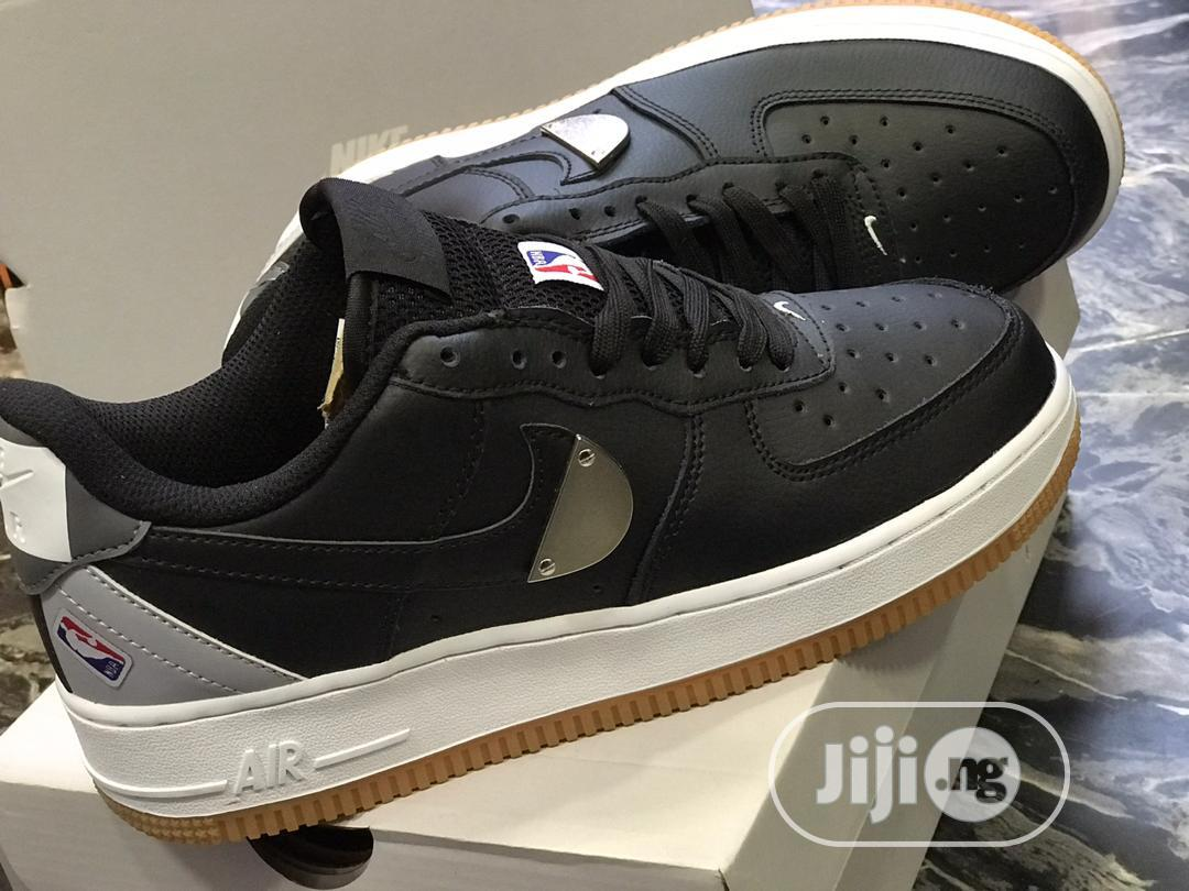 NBA X NIKE Air Force 1 Low Sneaker in Black | Shoes for sale in Ikoyi, Lagos State, Nigeria