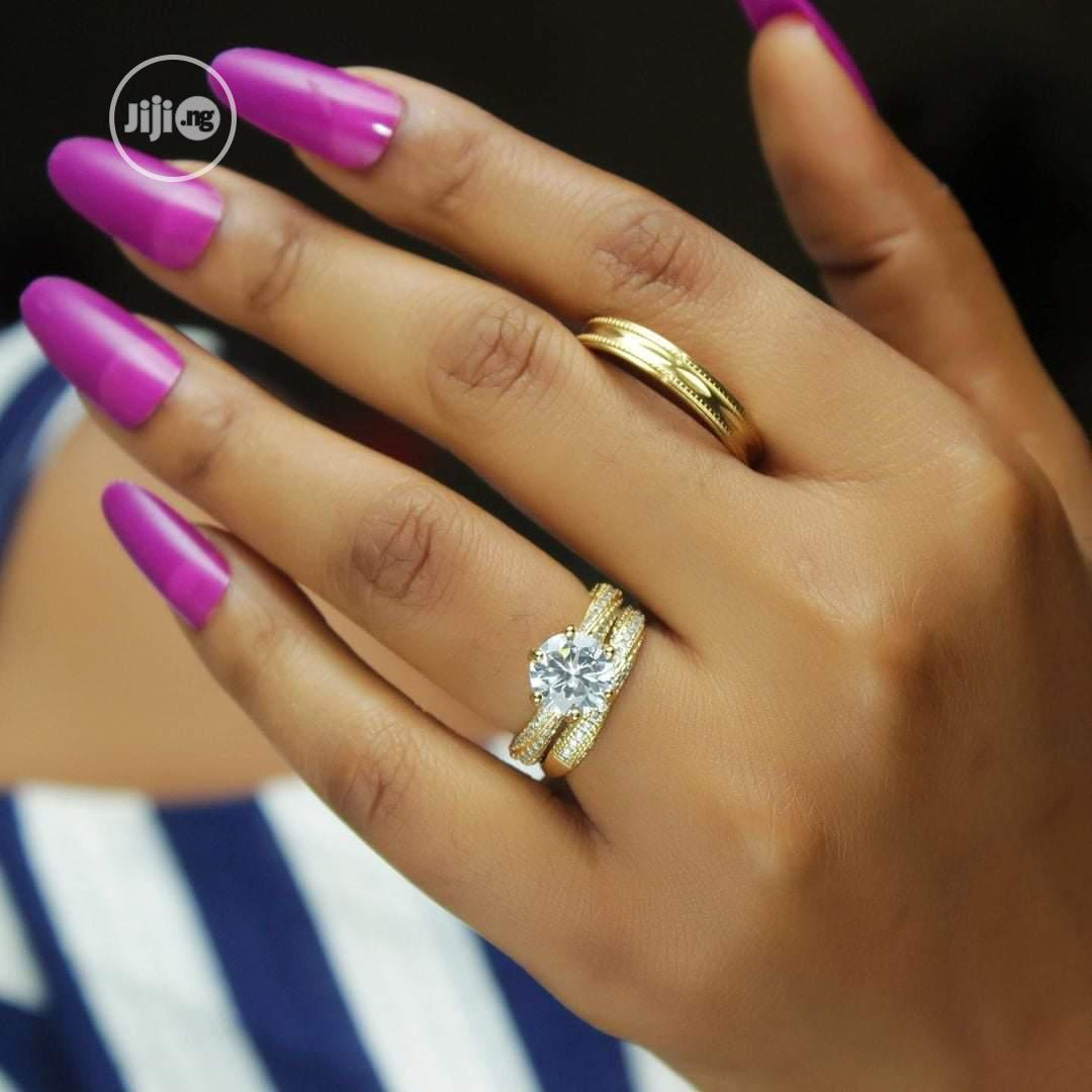 Rose Indiana Set Of Wedding Ring - Gold