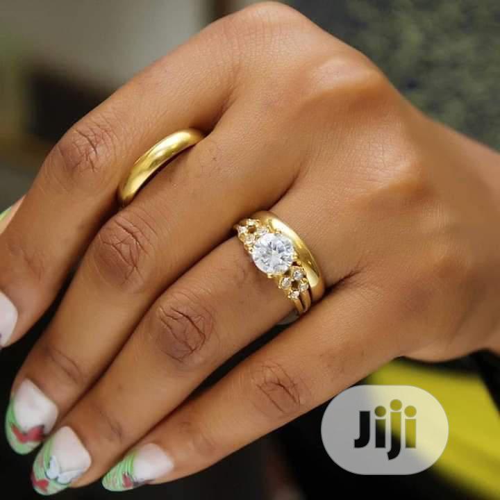 Rose Indiana Set Of Wedding Ring 002 - Gold