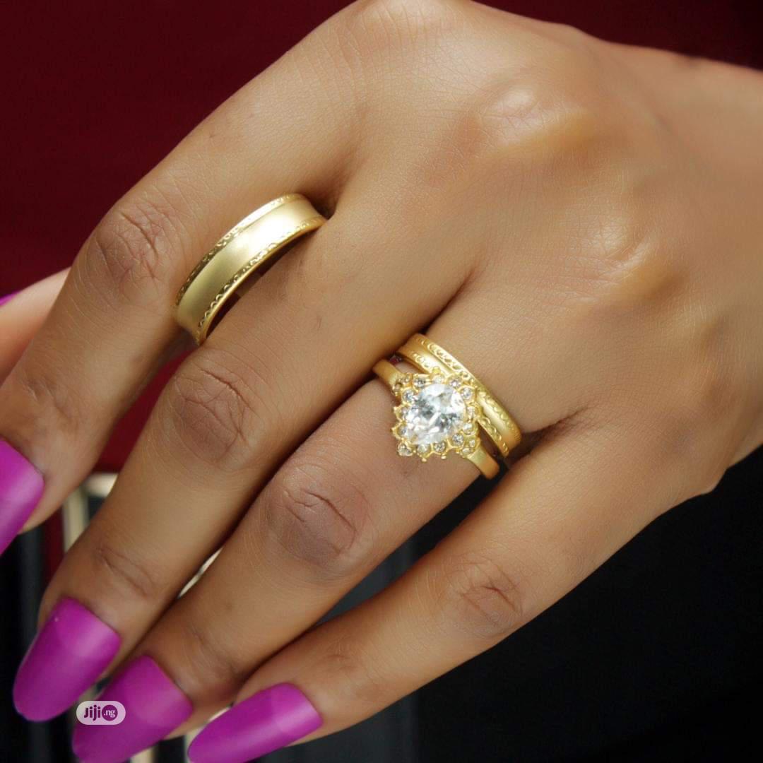 Rose Indiana Set Of Wedding Ring 001- Gold