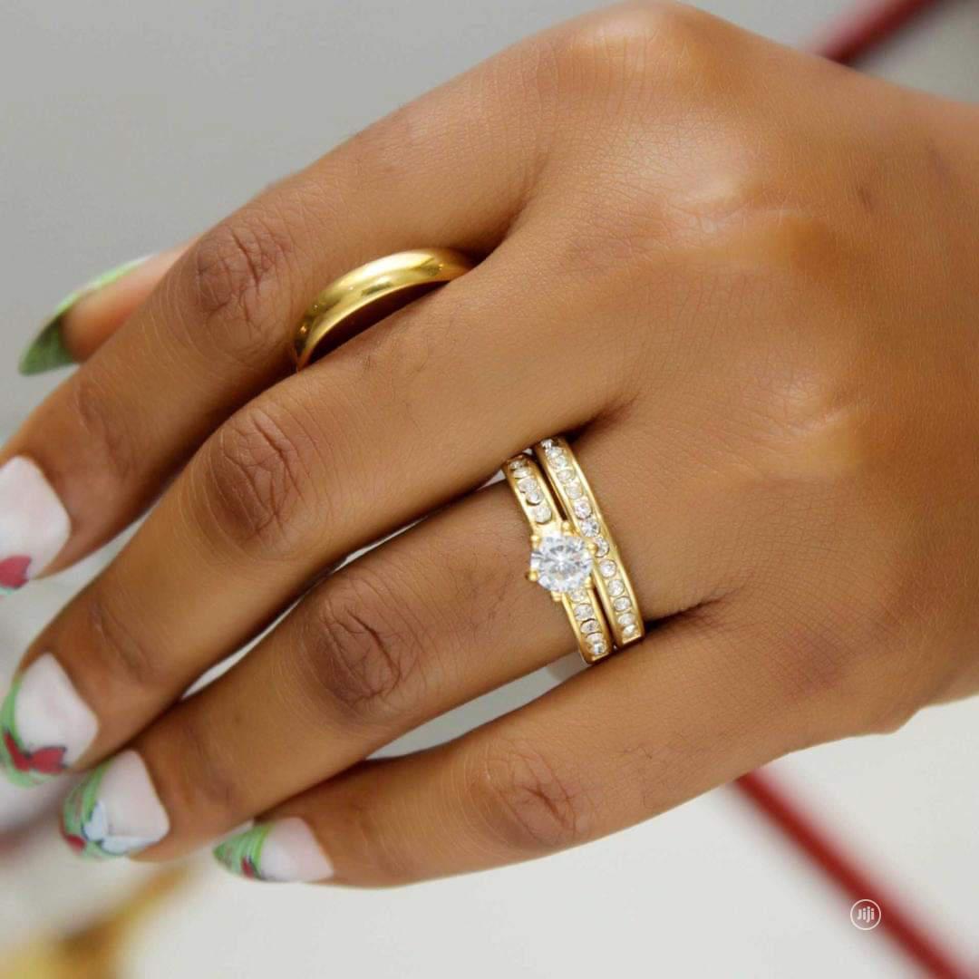 Rose Indiana Set Of Wedding Ring 003 - Gold