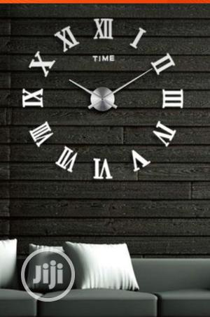 Roman Numerals 3D Modern Sticker Wall Clock | Home Accessories for sale in Lagos State, Ikeja