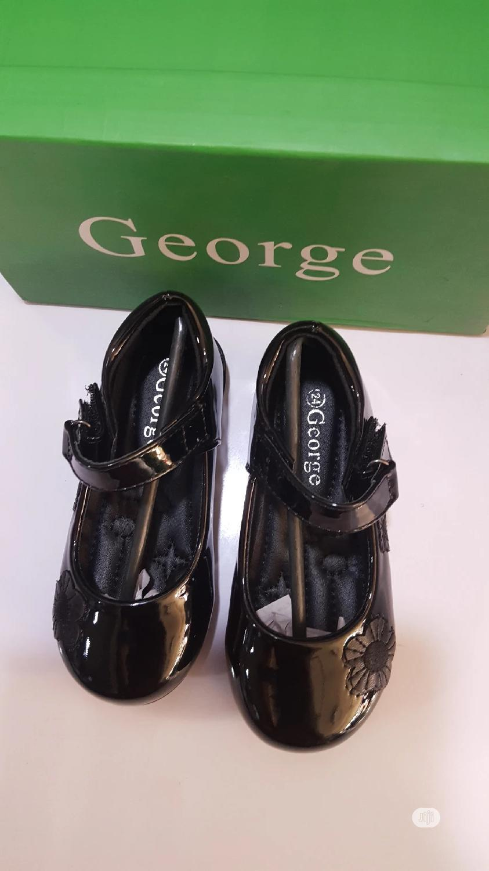 Black George Patent Shoe
