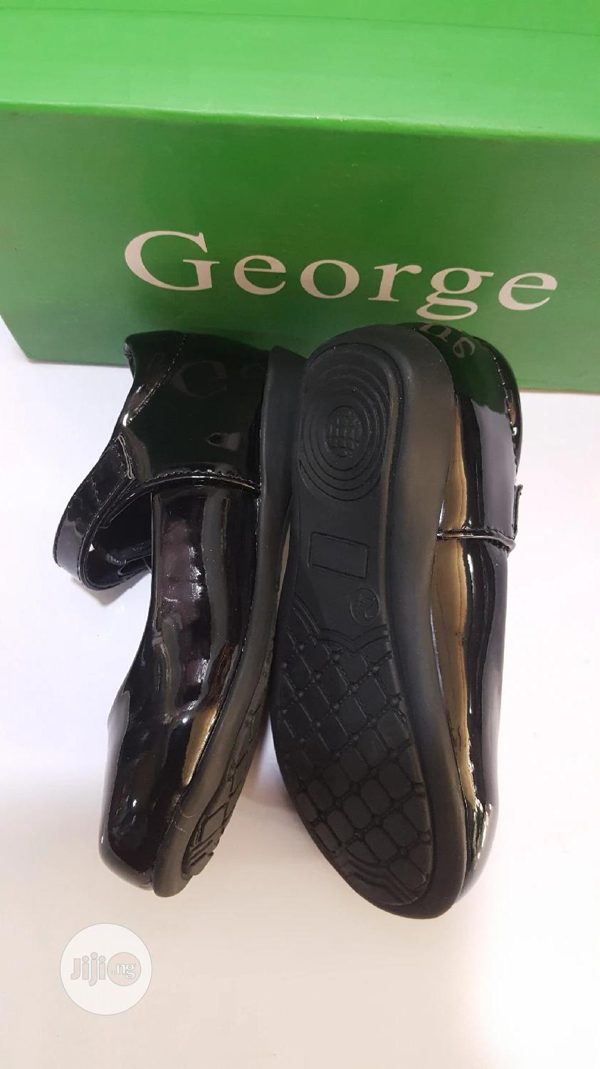 Black George Patent Shoe | Children's Shoes for sale in Ojodu, Lagos State, Nigeria