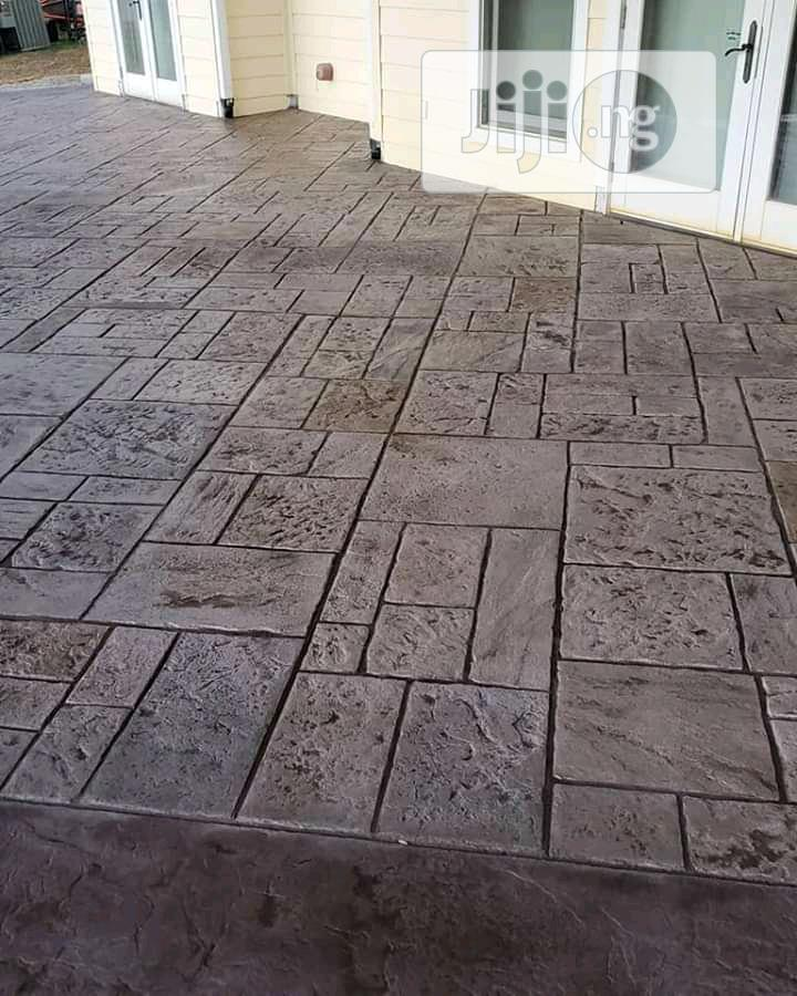 Archive: Stamped Concrete Patio Floors