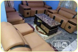 Complete Set Of Leather Sofa With Center Table | Furniture for sale in Lagos State, Ojodu