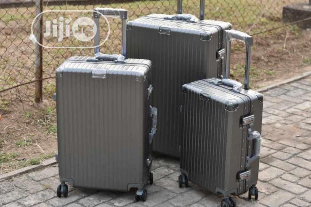 Unique Aluminum Travel Luggage Set Of 3