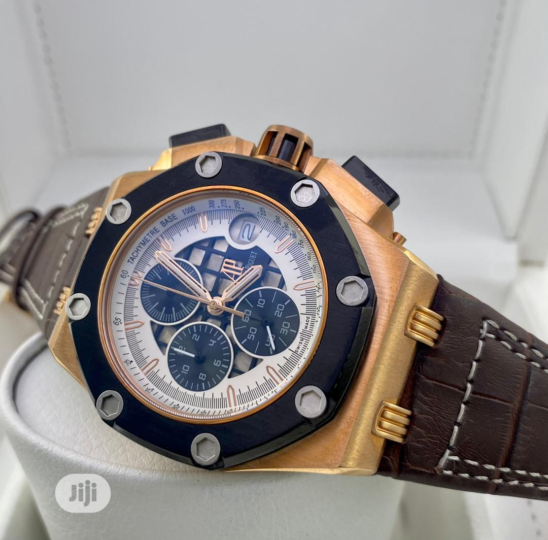 High Quality Audemars Piguet Leather Watch | Watches for sale in Magodo, Lagos State, Nigeria
