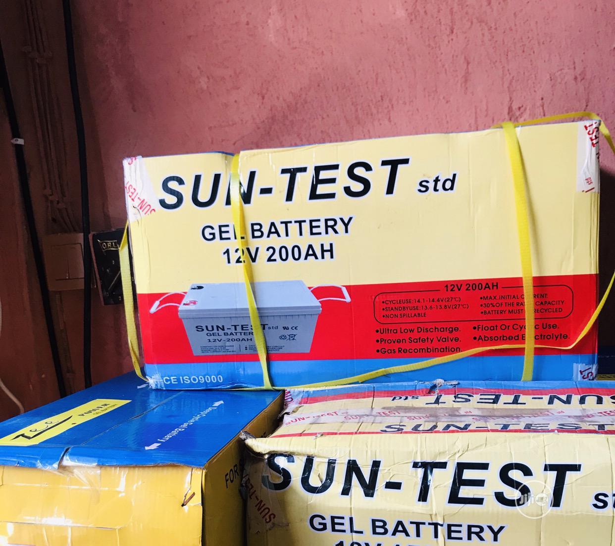 Archive: Sun Test Solar Battery 12v/200ah
