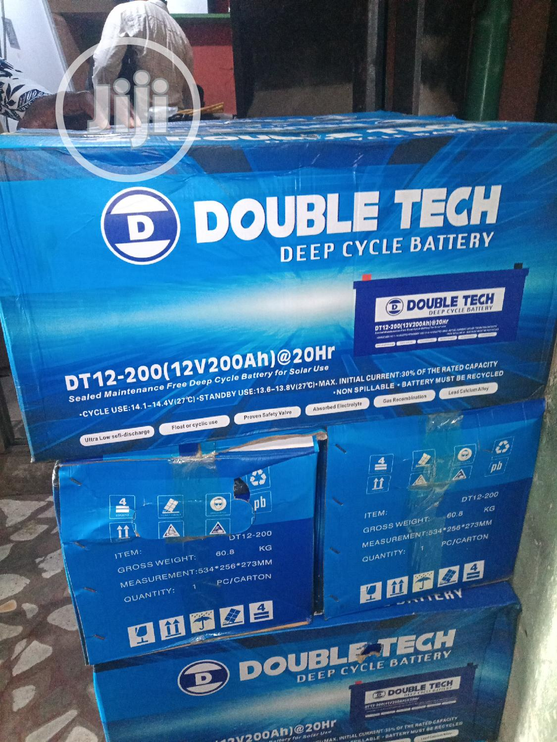 200ah 12v Double Tech Solar Battery | Solar Energy for sale in Lekki, Lagos State, Nigeria
