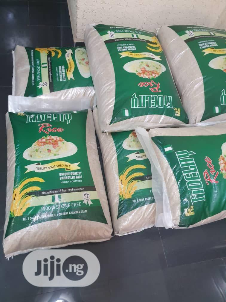 Bags Of Well Processed Rice