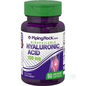 Pipingrock Hyaluronic Acid Skin Tissue 100mg 60capsules | Vitamins & Supplements for sale in Enugu State, Enugu