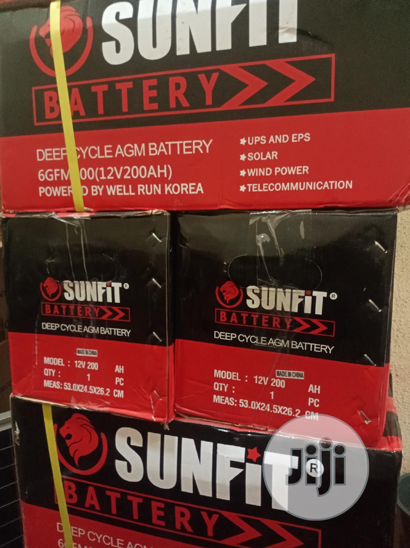 200ah 12V Sunfit Deep Cycle Solar Battery