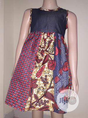 Ankara With Jean Design Children Dress   Children's Clothing for sale in Lagos State, Lekki