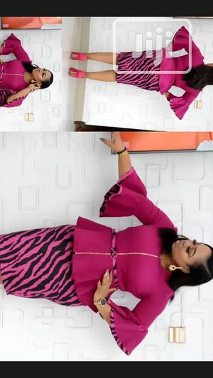 Quality Pink Design Turkey Skirt and Blouse | Clothing for sale in Lagos State, Isolo