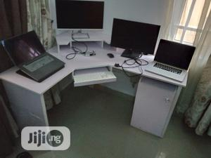 L-shaped Workstation Table Desk With Cupboard And Drawer | Furniture for sale in Lagos State, Ajah