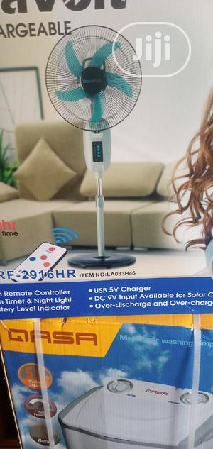 16 Inches Rechargeable Standing Fan   Home Appliances for sale in Lagos State, Oshodi