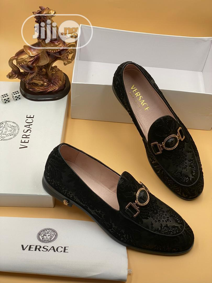Archive: Versace Luxury Men Leather Loafers