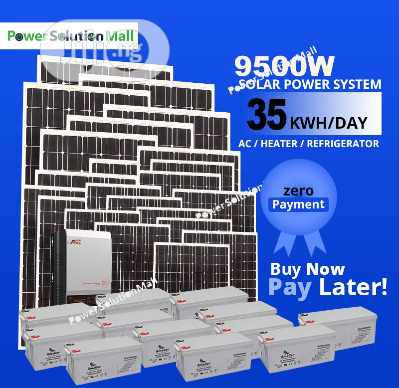 9500W SOLAR Installation (With Pay Later Option)