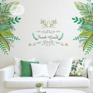 Green Leaves Tropical Wall Sticker Decals | Home Accessories for sale in Lagos State, Ikotun/Igando