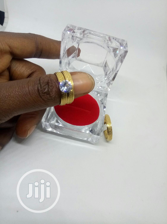 Rose Indiana Set Of Wedding Ring 008 - Gold