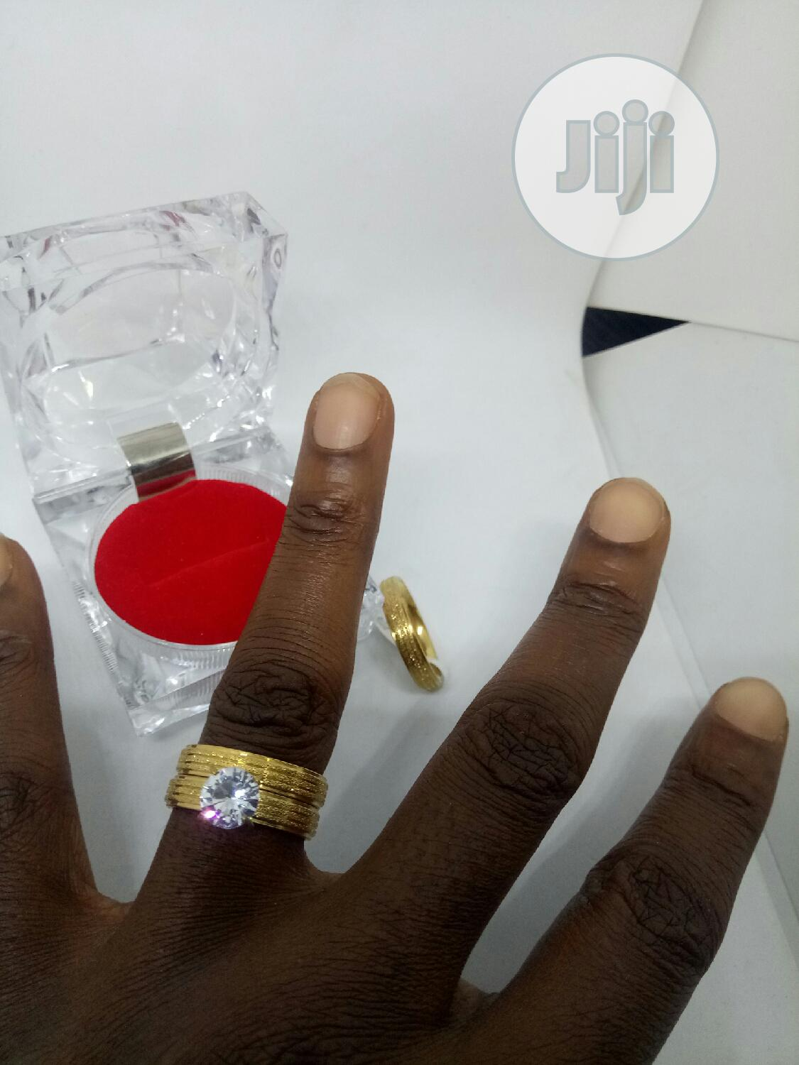 Rose Indiana Set Of Wedding Ring 008 - Gold   Wedding Wear & Accessories for sale in Ojodu, Lagos State, Nigeria