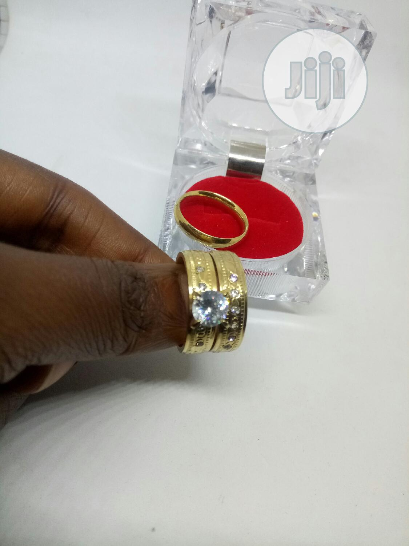 Rose Indiana Set of Wedding Ring 011 - Gold