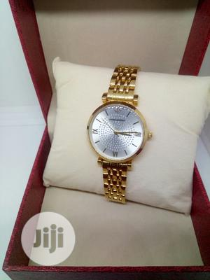 Emporio Armani Ladies Gold Wristwatch 002 - Gold   Watches for sale in Lagos State, Ojodu