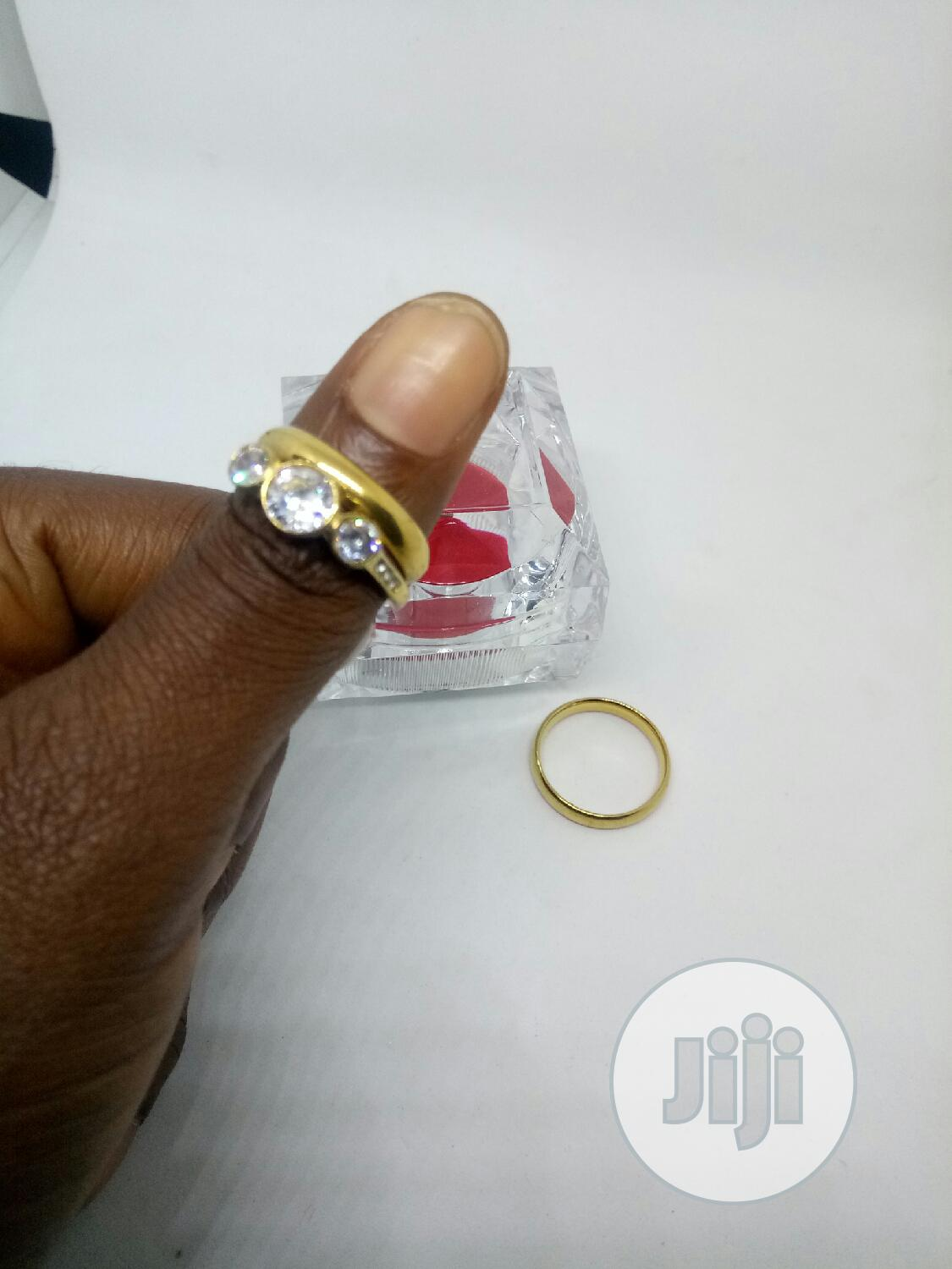 Rose Indiana Set Of Wedding Ring 013 - Gold | Wedding Wear & Accessories for sale in Ojodu, Lagos State, Nigeria