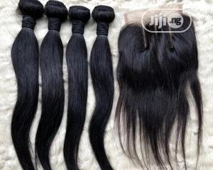 """Straight Human Hair With Closure. 18"""".   Hair Beauty for sale in Lagos State, Ikeja"""