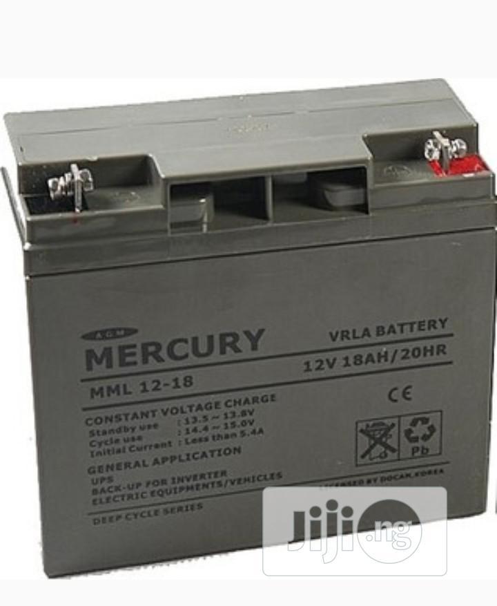 Mercury Ups Battery 12v18ah