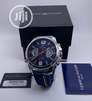 High Quality Tommy Hilfiger Leather Rubber Watch | Watches for sale in Lagos State, Magodo