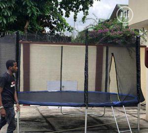 12ft Trampoline With Ladder And Net   Sports Equipment for sale in Lagos State, Lekki