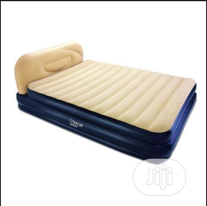 Bestway Comfort Soft Elevated Queen Airbed - Built in Pump