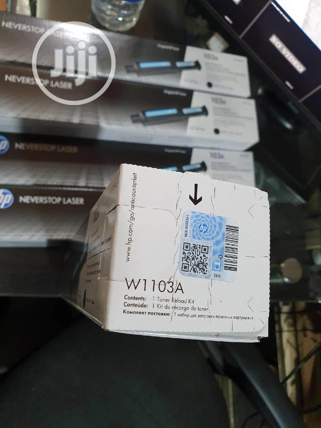Hp 103a Black Toner Cartridge | Accessories & Supplies for Electronics for sale in Ikeja, Lagos State, Nigeria