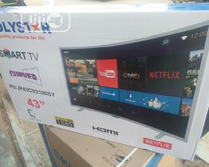 Polystar 43 Inches Andriod Curved Smart TV (Pv-jp43cv2100sy)   TV & DVD Equipment for sale in Lagos State, Ifako-Ijaiye