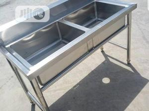 Double Tank Stainless Steel Sink | Restaurant & Catering Equipment for sale in Lagos State, Ojo