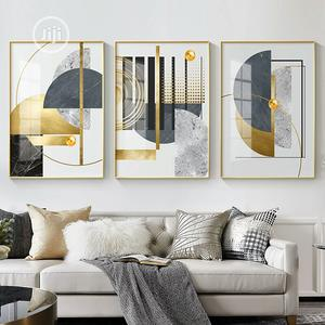 Stitching Canvas Print Gold Art With Frame   Home Accessories for sale in Lagos State, Lekki