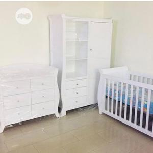 Baby Bedframe+ Baby Waldrobe+ Baby Side Drawer | Children's Furniture for sale in Lagos State, Oshodi
