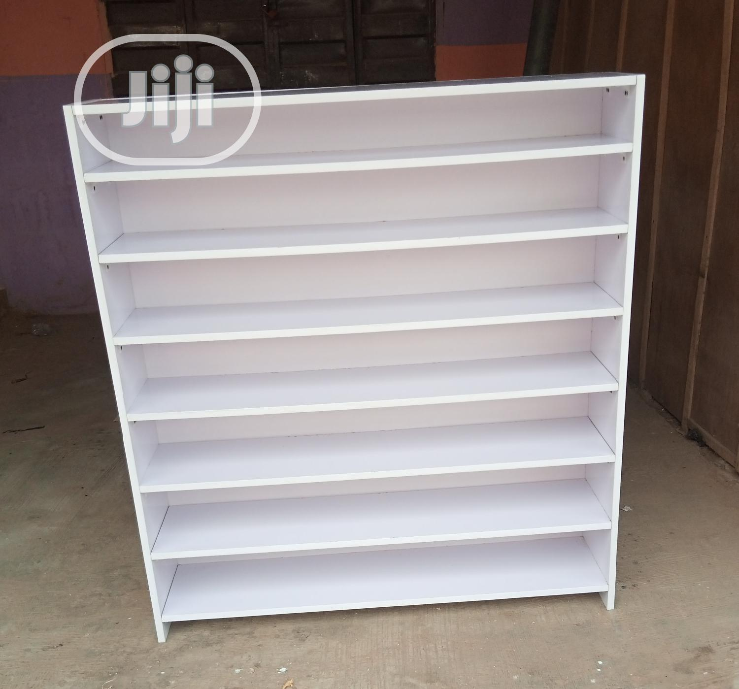 Brand New White Color Full Back Cover Shoes/Bags Rack