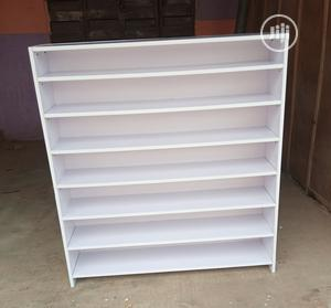 Brand New White Color Full Back Cover Shoes/Bags Rack   Furniture for sale in Lagos State, Lekki