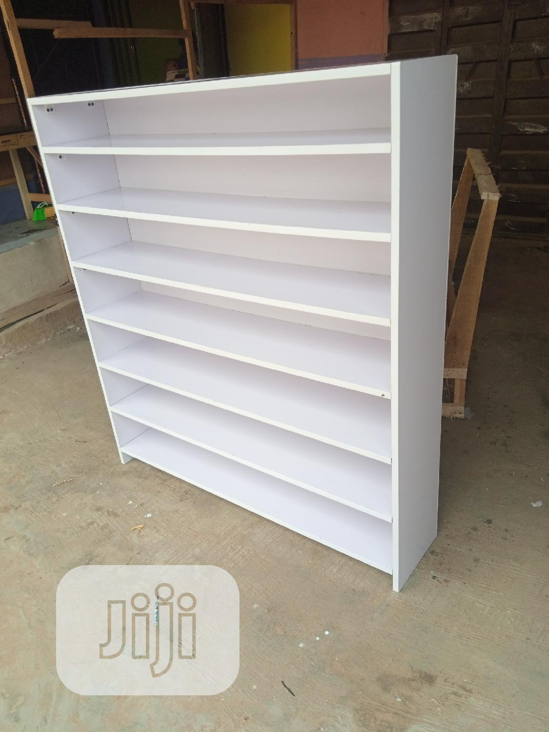 Brand New White Color Full Back Cover Shoes/Bags Rack   Furniture for sale in Lekki, Lagos State, Nigeria
