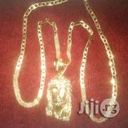 Solid ITALY 750 Pure 18krt Senior Belt Wit Jesus Piece | Jewelry for sale in Lagos State