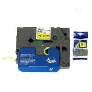 Label Tape Cartridge For Brother Ptouch 12mm Black On Yellow | Accessories & Supplies for Electronics for sale in Lagos State, Ikeja