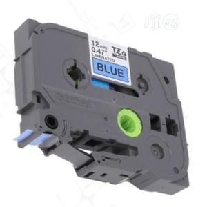 Label Tape Cat Tzc-531 For Brother Ptouch 12mm Black On Blue | Electrical Hand Tools for sale in Lagos State, Ikeja