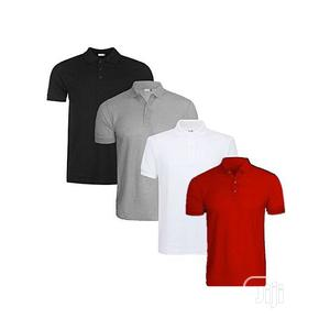 4-In-1 Quality Men's Polo T-Shirts - Grey/White/Black/Red   Clothing for sale in Lagos State, Ikeja