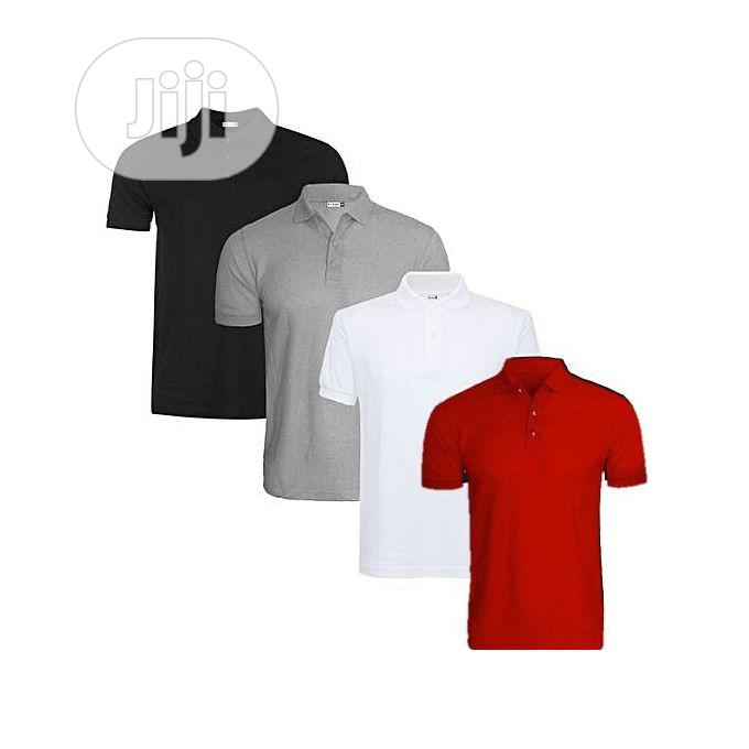 Archive: 4-In-1 Quality Men's Polo T-Shirts - Grey/White/Black/Red